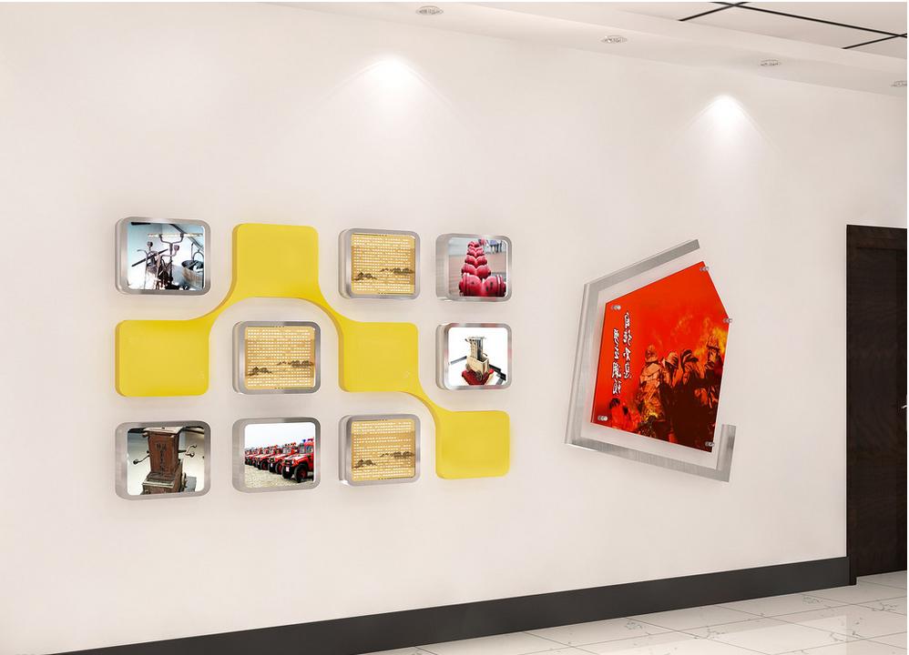 公司前台形象墙设计小集图片
